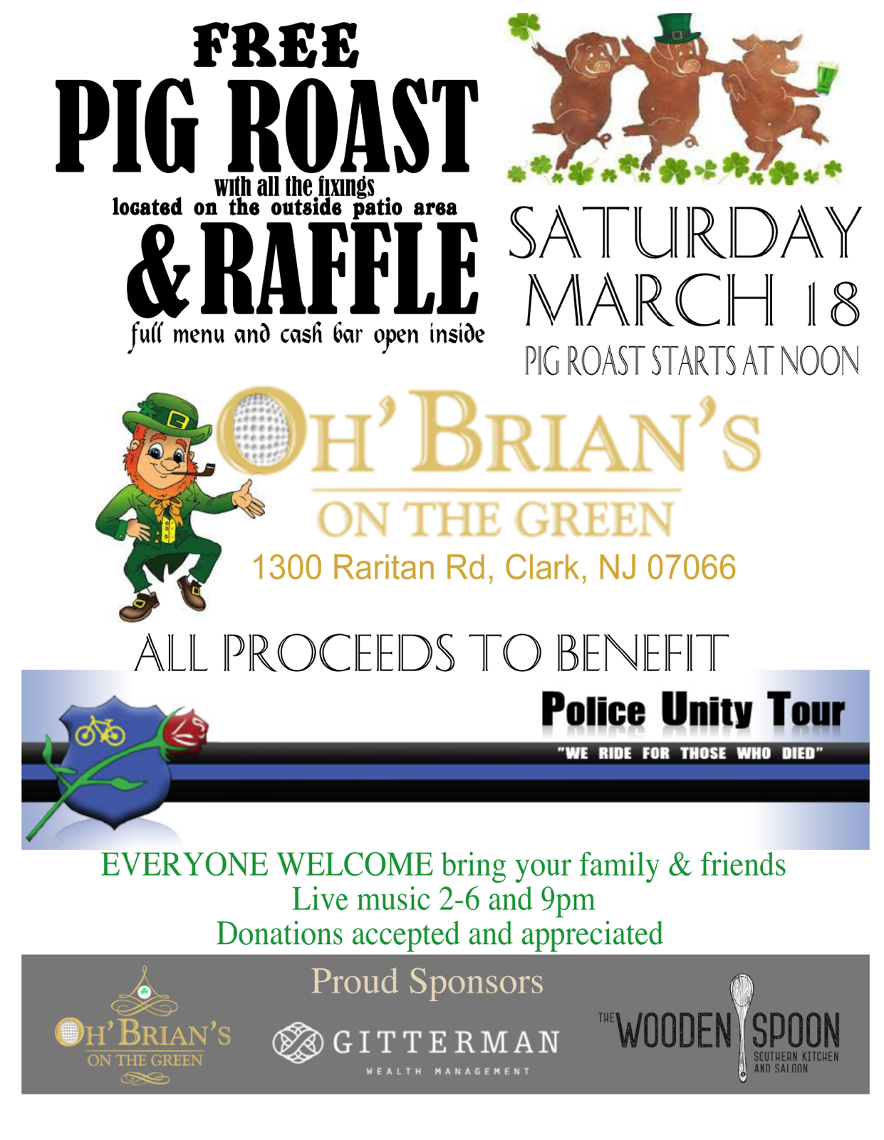 Pig Roast and Raffle to Benefit Police Unity Tour | TAPinto