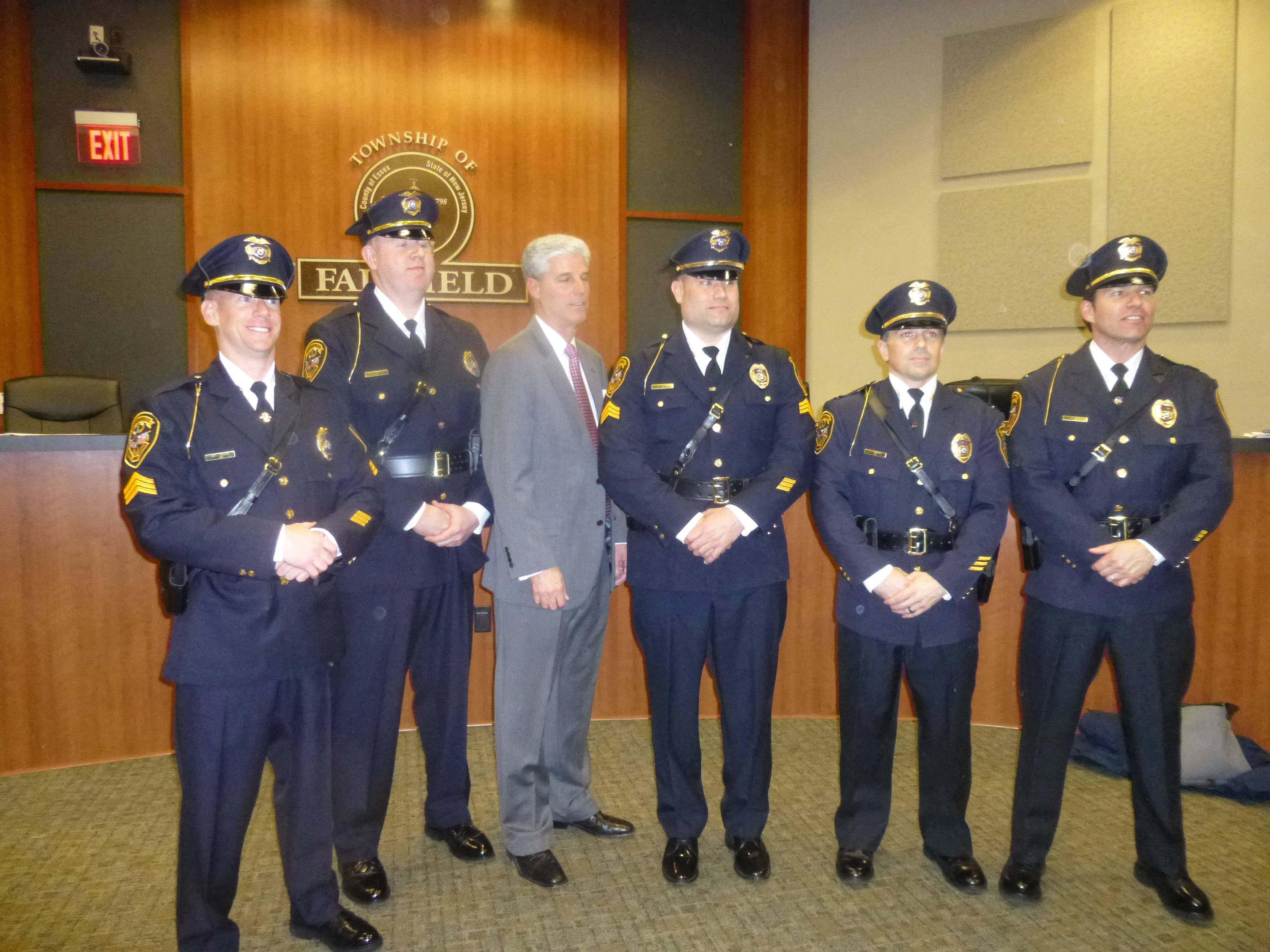 Township of Fairfield Promotes Five Police Officers | TAPinto