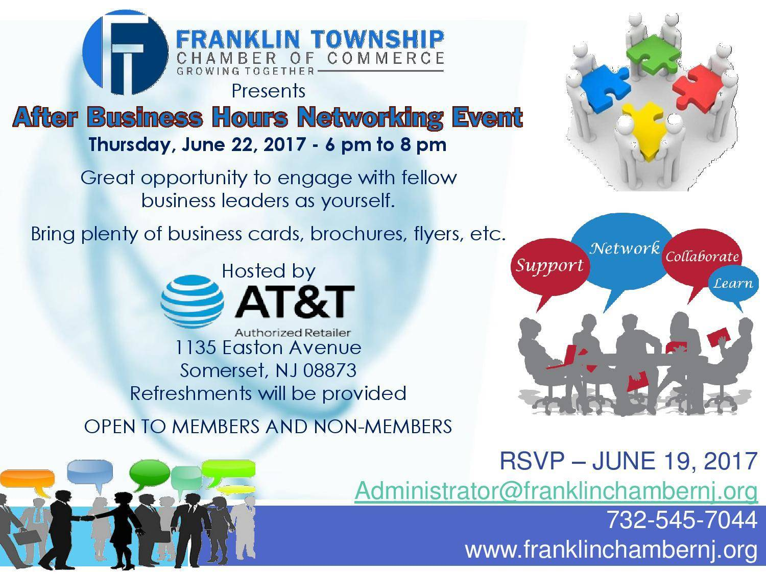 Franklin township chamber of commerce after hours networking event after hours business networking event 6 22 2017g reheart Images