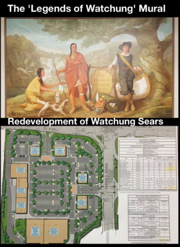 watchung planning board hears redevelopment plan for sears property developer will donate mural. Black Bedroom Furniture Sets. Home Design Ideas