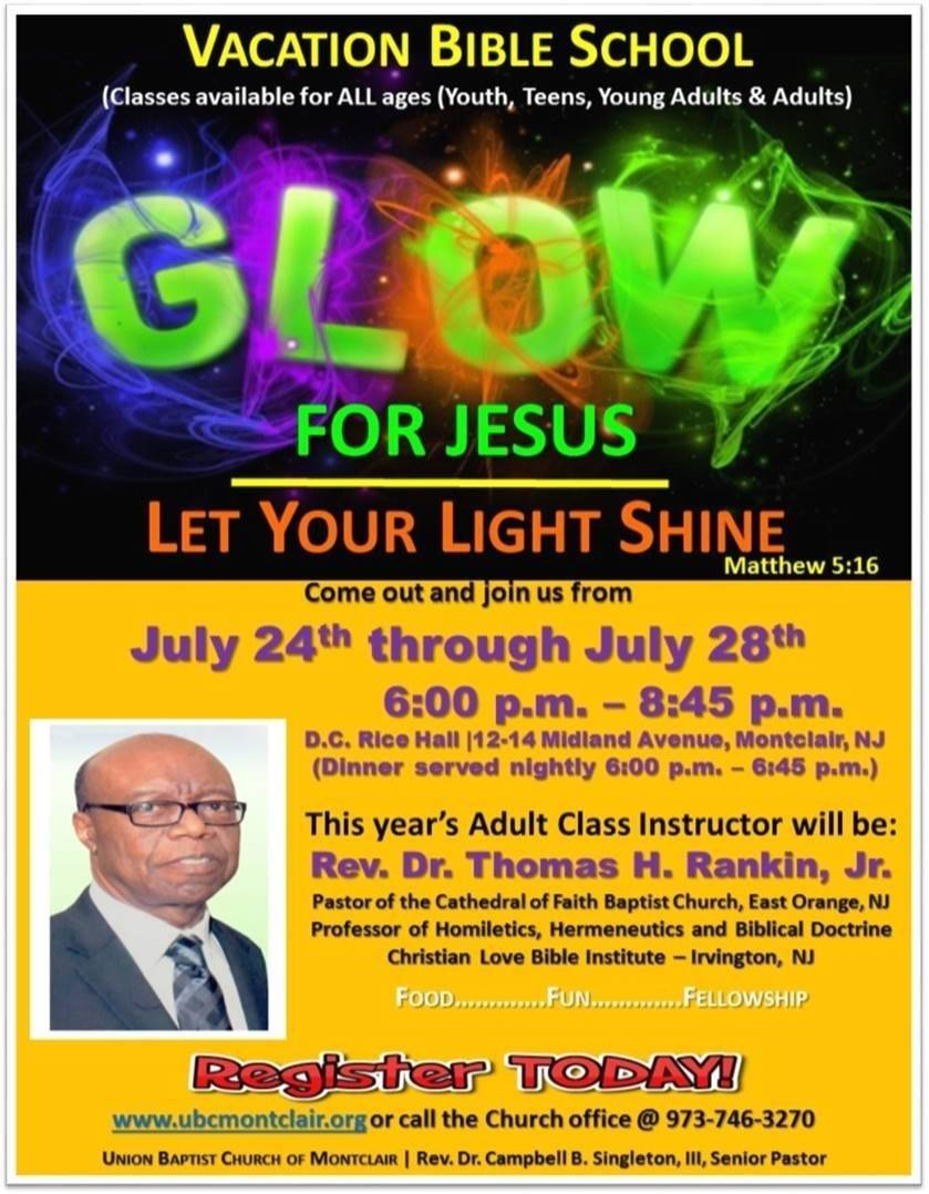 Vacation bible school at union baptist of montclair july for Vacation bible school crafts for adults