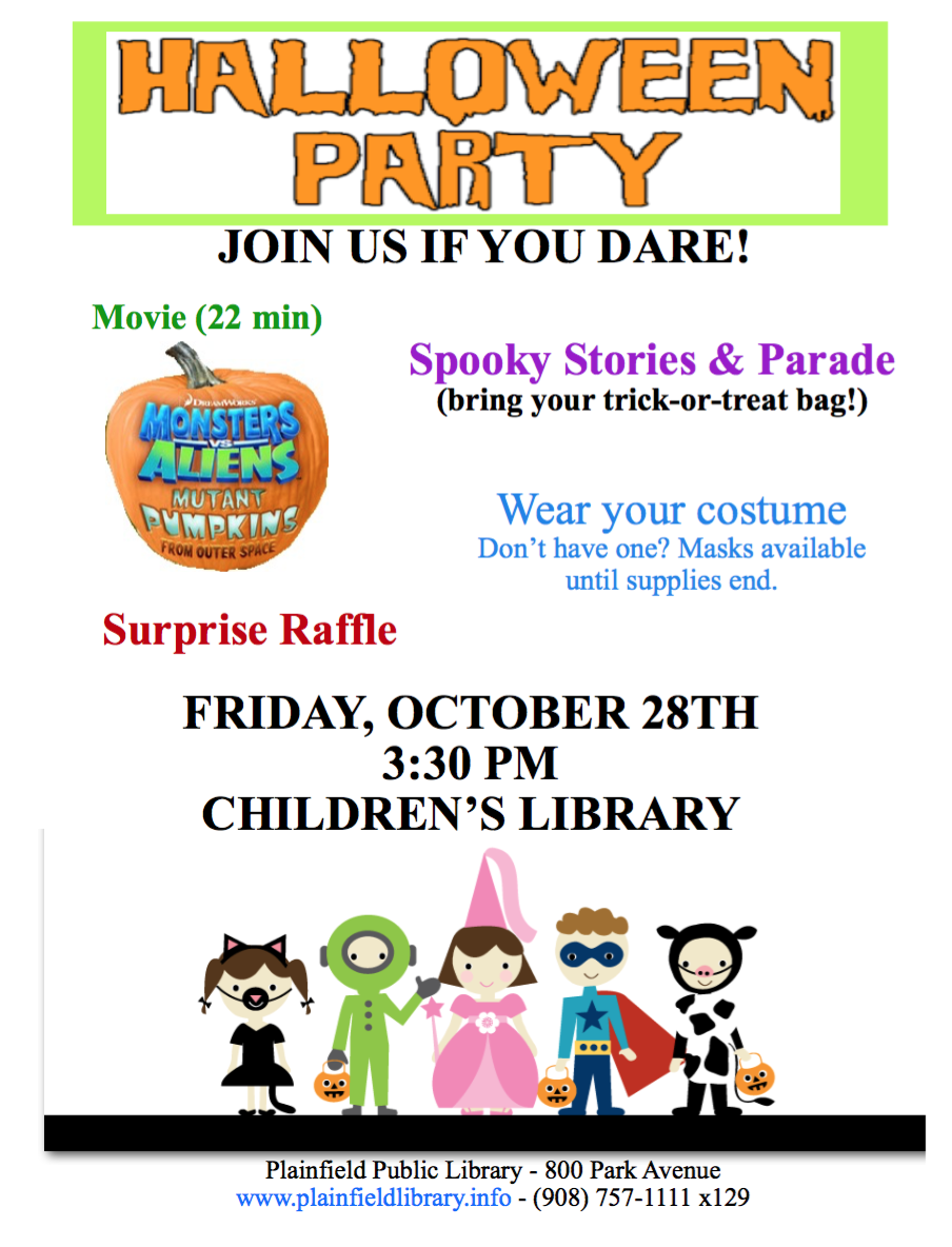 Halloween Celebration at the Plainfield Public Library ...