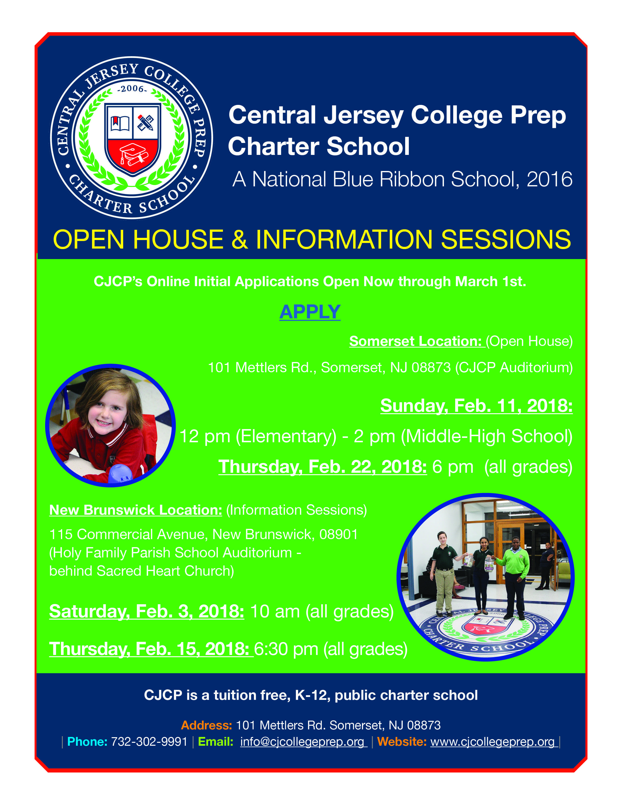 Food And Finance High School Open House Dates
