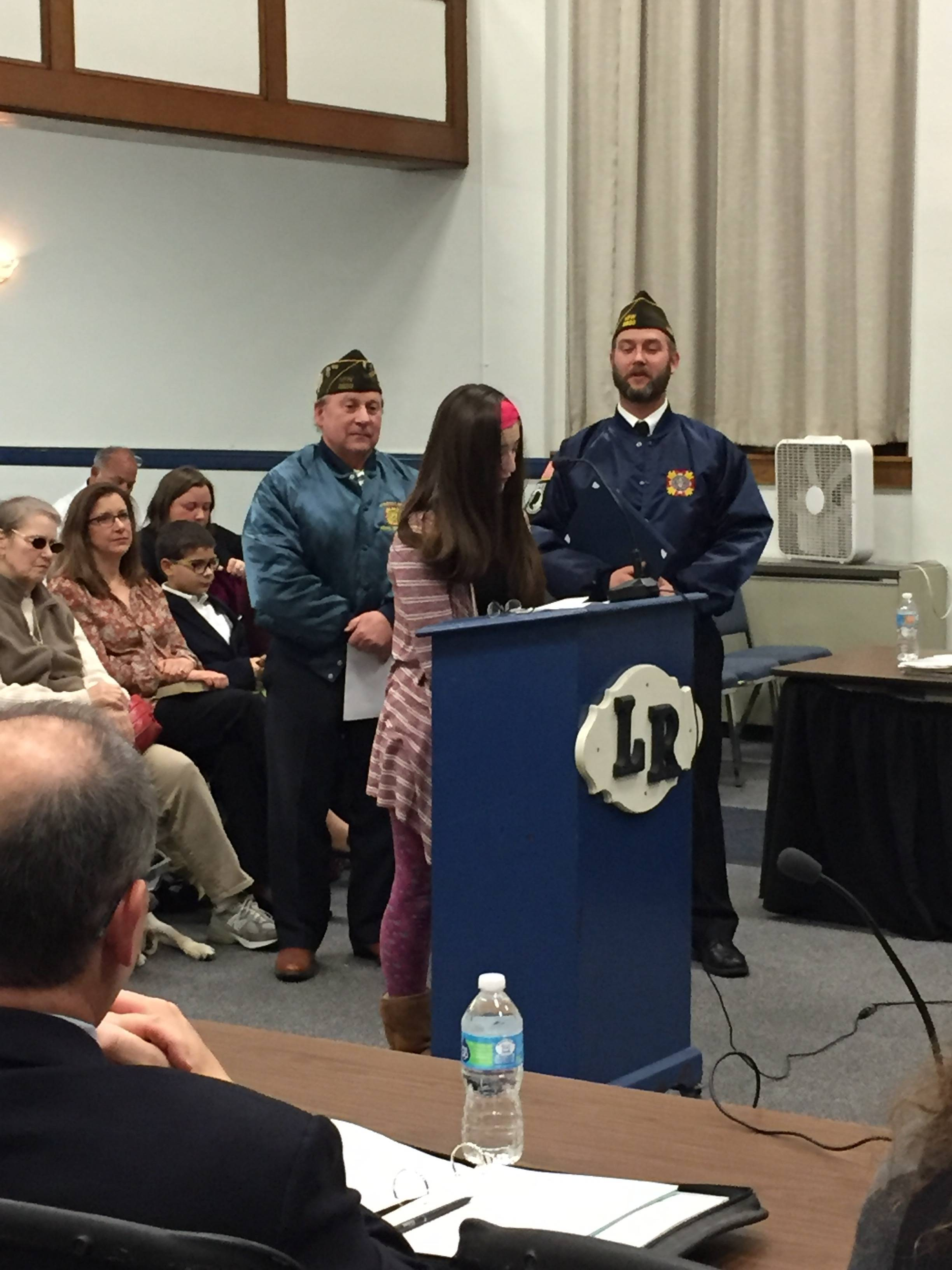 local vfw celebrates patriots pen and voice of democracy essay patriots pen farina credits roxbury township public schools