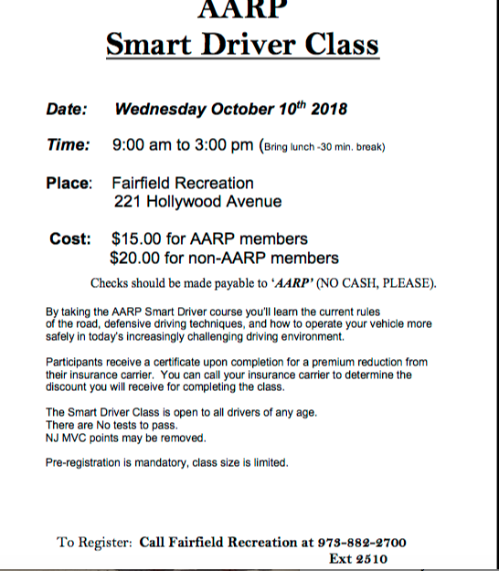 AARP Smart Driver Class - TAPinto