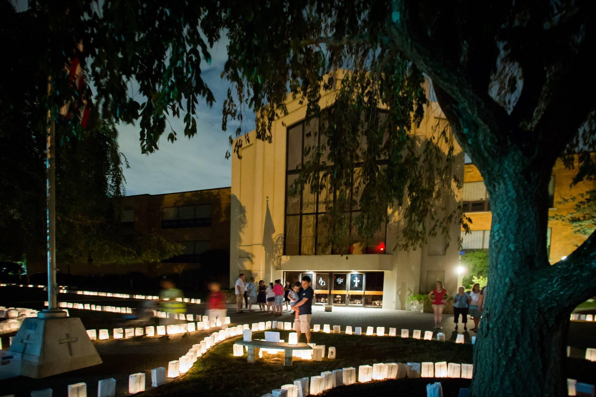 St. Bart's 9/11 Memorial Luminaries Light Up Scotch Plains