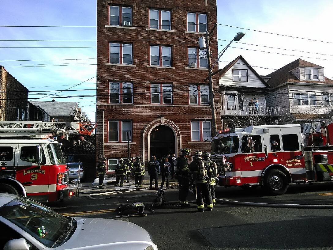 bayonne firefighters quickly extinguish avenue a fire bayonne nj news tapinto. Black Bedroom Furniture Sets. Home Design Ideas