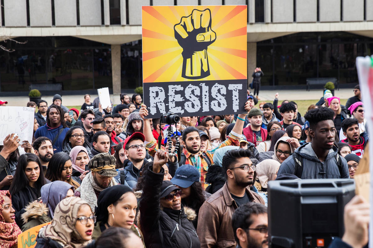 Rutgers, NJIT, Essex County College students join together to protest Trump immigration policy