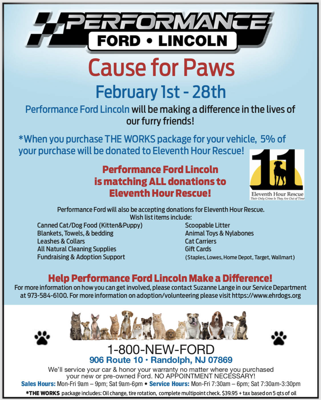 Performance Ford Lincoln S Cause For Paws Tapinto