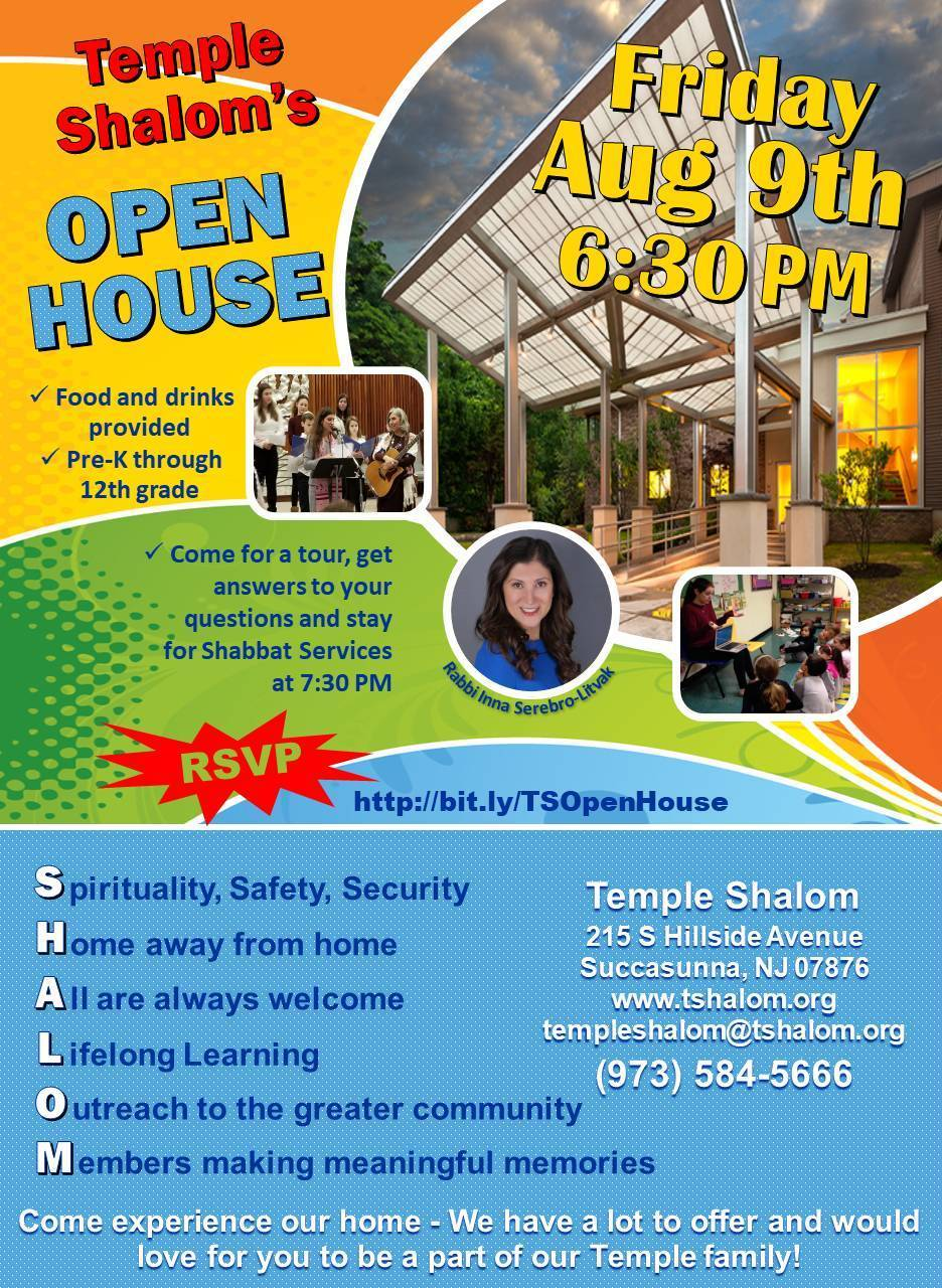 Temple Shalom Open House | TAPinto