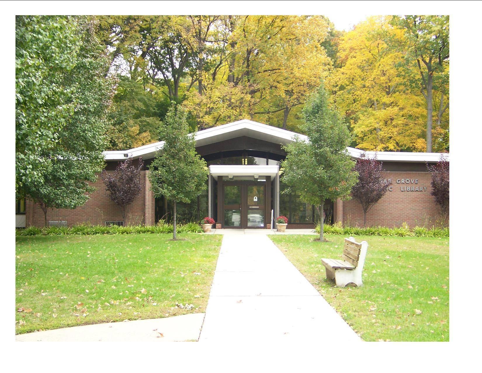 Cedar grove historical society presents exploring the Library garden grove