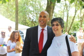 Corey Booker and Sue Becker of Maplewood
