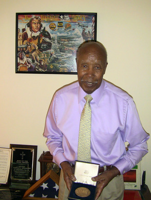 Malcolm E. Nettingham, one of the famed Tuskegee Airmen, received the Congressional Gold Medal in 2007