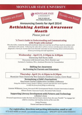 "MSU ""Rethinking Autism Awareness Month'"