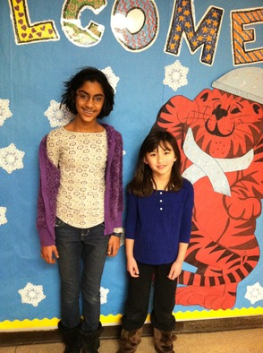 Salt Brook School students Sahana Narayan and Audrey Thompson received state awards in the national PTA Reflections program.