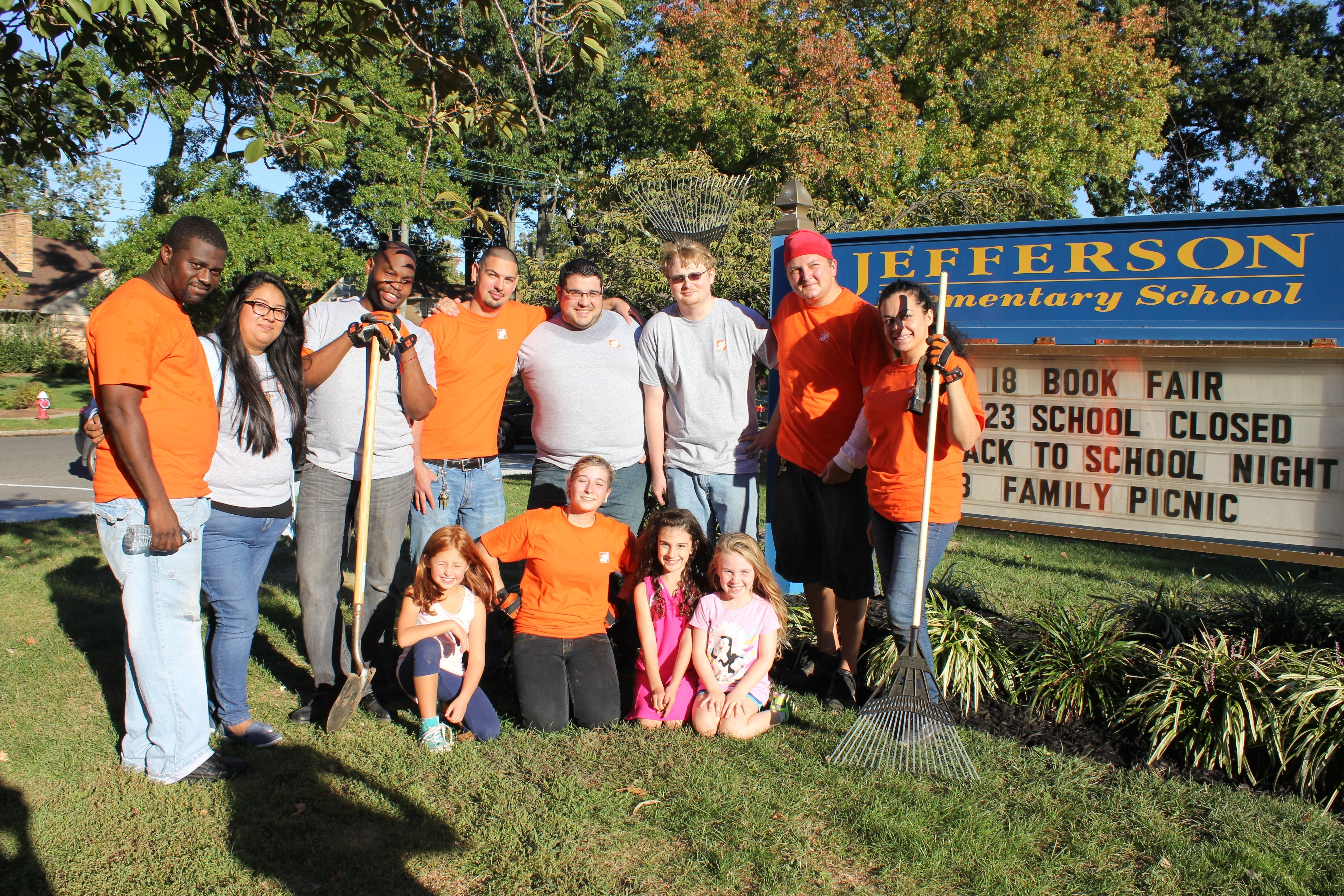 Jefferson Elementary Thanks Garwood Home Depot for Time and ...