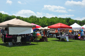A sampling of the vendors at Vernon Day.
