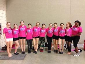 MHS Dance Company working hard in rehearsal