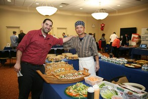 Guests Enjoy Food Provided by Fumio Grill & Sushi
