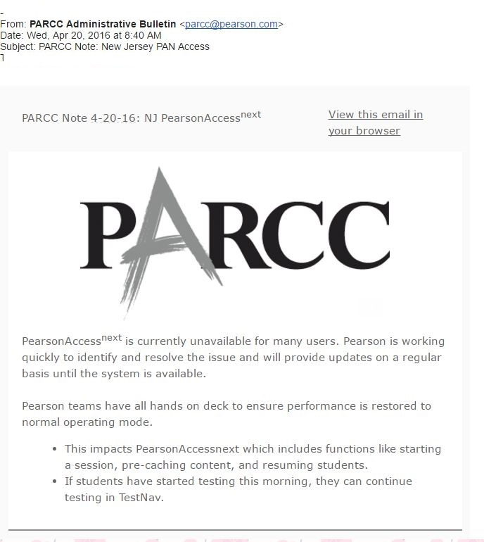 NJ PARCC glitch fixed, testing to resume Thursday, state says