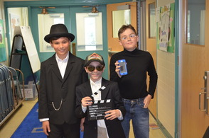 Grant Haas as Henry Ford, Jack Fitzsimmons as Stephen Spielberg and Mark Bisig as Steve Jobs