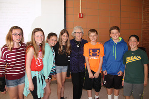 Holocaust Survivor Maud Dahme Shares Her Story with Salt Brook Students