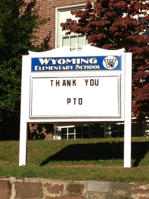 PTO Installs New Sign at Millburn's Wyoming Elementary School, photo 1
