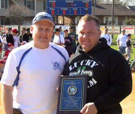 SPFBL President Neil Kaufman and Mike Brennan of Darby Road