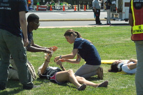 Students Learn EMS Procedures in Mass Casualty Drill, photo 14