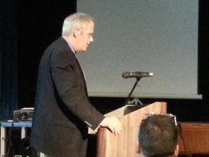 Westfield resident, Anthony Cook, speaks at BOE meeting.