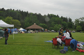 The grounds at Sussex County Community College, during the event.