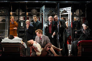 Carousel image 04830780d18b41aceb36 allan corduner  hercule poirot  center  with the company of murder on the orient express. photo   t. charles erickson