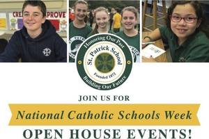 St. Patrick To Host Open House Events
