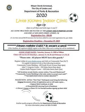 Little Kickers Indoor Soccer Clinic