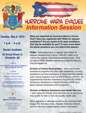 Carousel image 0b5bf0e14707cae7fcaf hurricane maria evacuee information session flyer
