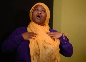 Esiah Waheed (Stepmother) rehearsing the djinn song.jpg