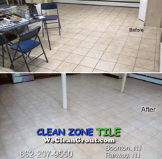 Basement Tile and Grout Cleaned and Sealed