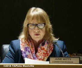 Carousel image 182e978ecbfc55917951 a montville township committee member june witty reads from a statement  2018 tapinto montville    1.