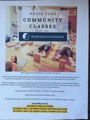 House Yoga Community Class For The Fearvana Foundation