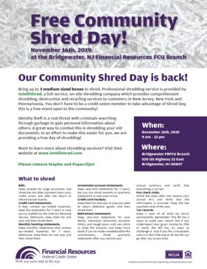 FRFCU Shred Day Flyer