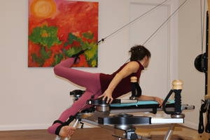 Gyrotonic and Gyrokinesis master Trainer Erika Hassan Teaching a course at Studio