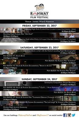 Film Line Up the The James Ward Mansion