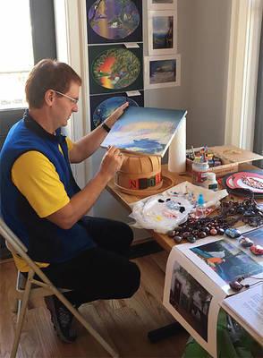 Carousel image 3f9802c9b449576eace3 paul hoffman painting at art show