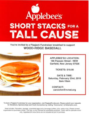 Applebees Pancake Fundraiser