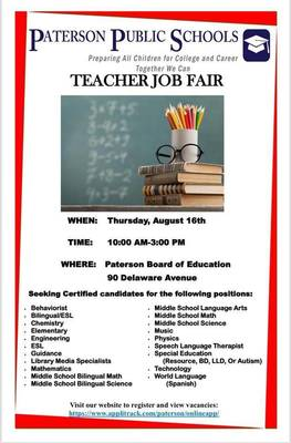 Paterson Teacher Job Fair