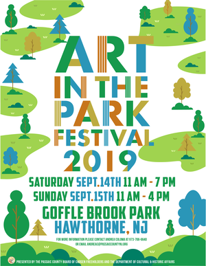 Flyer, Art in the Park, Goffle Brook, Sept 2019.png