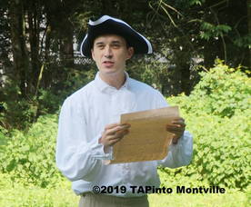 Reading of Declaration of Independence by Hank Lyon ©2019 TAPinto Montville.JPG