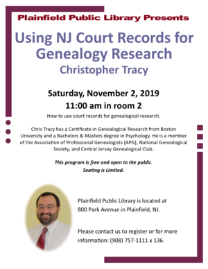Using NJ Courty Records for Genealogy Research
