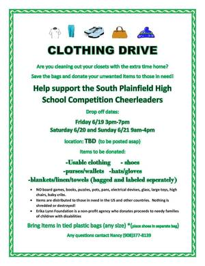 SPHS CLOTHING DRIVE 2020
