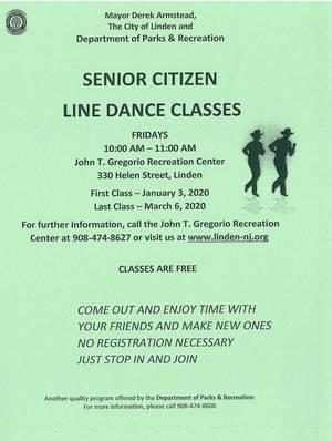 Senior Citizen Line Dance Classes